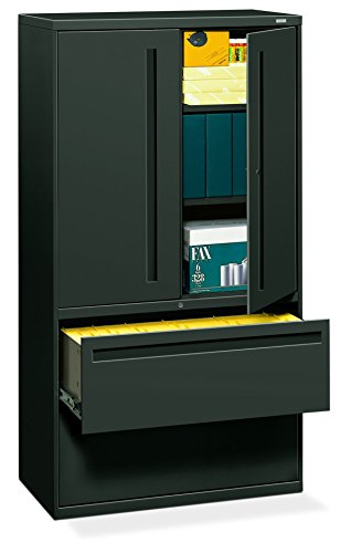 700 Series Lateral File - HON 785LSS 700 Series Lateral File w/Storage Cabinet, 36w x 19-1/4d, Charcoal