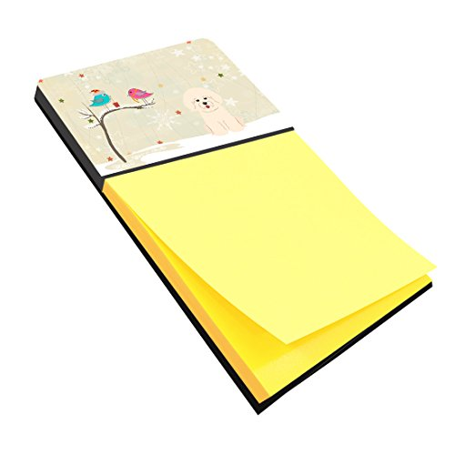 Caroline's Treasures Christmas Presents Between Friends Bichon Frise Sticky Note Holder, Multicolor (BB2547SN)
