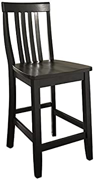 Crosley Furniture CF500324-BK Schoolhouse Bar Stool Set of 2 24-inch Black