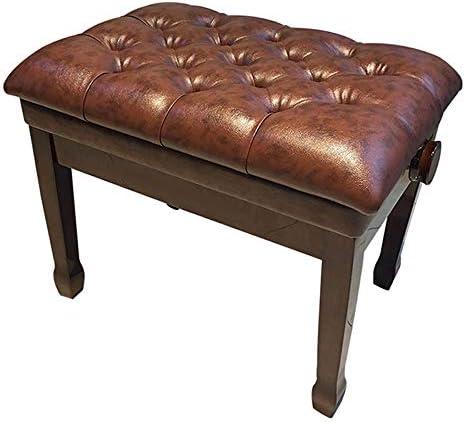 楽器スツール 古筝エレクトリックピアノ一本の太いピアノスツール防水調節可能な楽器スツール子供のピアノレッスン 丈夫で快適な座位 (色 : Coffee, Size : 60x40x58cm)
