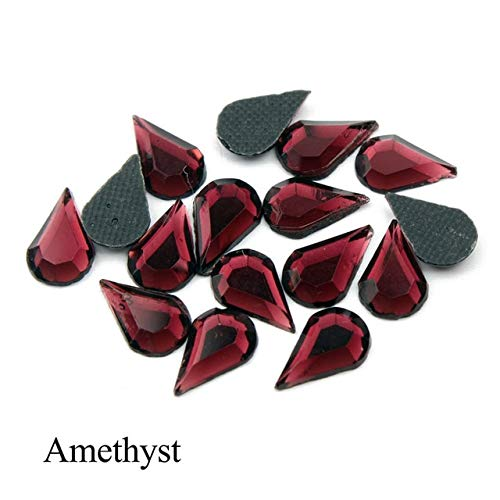 300Pcs 5X8mm Teardrop Shape Hotfix Rhinestones Iron On for Fabric Sewing Craft-Hotfix Rhinestones Iron On for Wedding Dress-Teardrop Rhinestone for Craft-Hotfix Rhinestones for Clothes-Hotfix Iron