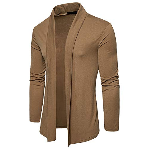 Lined Harrington Jacket - BODOAO Men Casual Cardigan Long-Sleeved Plain Collar Cape Knitted Sweater Jacket