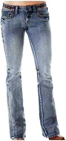 Cowgirl Tuff Western Denim Jeans Womens Vintage Studs Med JVINTG