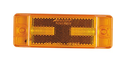 """Maxxima M20330Y Amber 2"""" x 6"""" LED Clearance Marker/Auxiliary Turn Signal Light with Reflectorized Lens"""