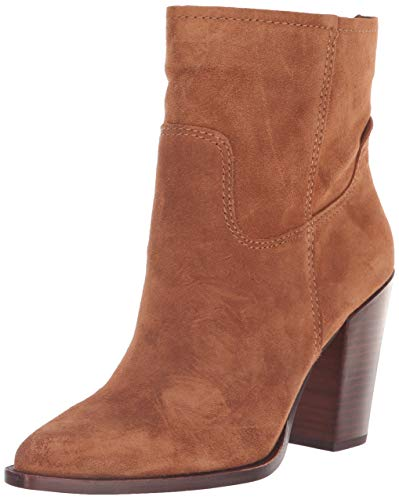 Dolce Vita Women's Kelani Ankle Boot, Brown Suede, 7 M US
