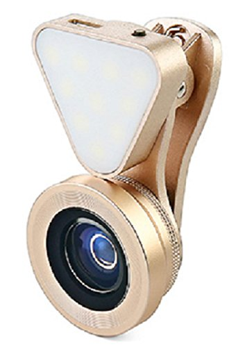 Wide Angle + Macro Clip-On Lens for Smartphones and Tablets (Gold) - 6