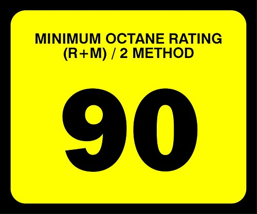 Decals (Pack of 5) - Octane Rating 90 (2.5