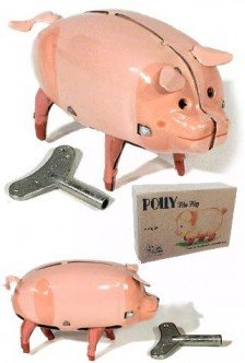 Polly the Pig Walking Tin Toy-Seasonal Toys ()