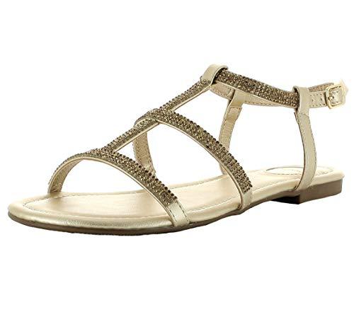 Con Gold sandalia sandalias Correa De zapatos Verano Buffalo Emira Mujer Tiras w6SxEntTq