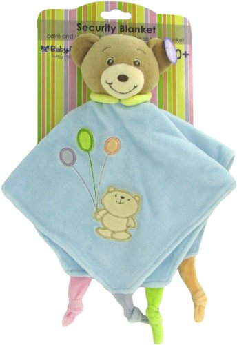(Baby Bow Teddy Bear Rattle Blanket in Blue by Russ)