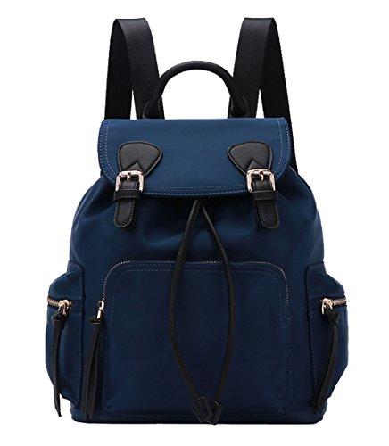 Mochila de mujer,HopeEye Mujer Mochila Nylon impermeable Bolso del hombro bolsa de mano Mochilas tipo casual Bolsa de Viaje 12-azul