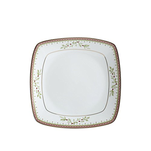 - Mikasa Holiday Traditions Square Salad Plate, 8-Inch