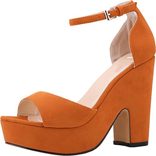 Plateforme Salabobo Salabobo Orange femme Sandales Sandales Plateforme qIIrFw7
