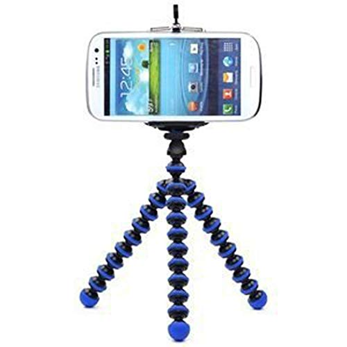 CellCase Octopus style Portable Adjustable Tripod Stand with Retractable Holder for Apple iPhone 3G 3GS 4 4s iPhone 5 5c 5s Samsung Galaxy s3 i9300 s4 i9500 Samsung Galaxy S5 (Black & Blue)