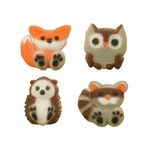 Forest Friends Woodland Animal Sugar Cup Cake Cupcake Decorations 12 count]()