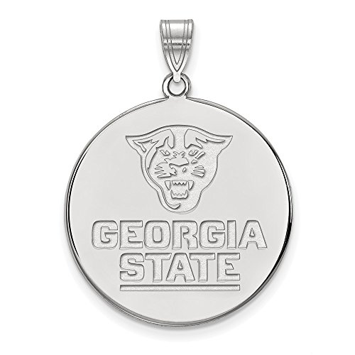 (FB Jewels Solid Sterling Silver Logo Art Georgia State University Extra Small Disc Pendant)