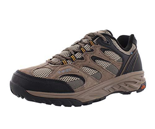 Hi-Tec Men's V-LITE Wild-FIRE Low I Waterproof Hiking Shoe, Taupe/Dune/core Gold, 110M Medium US