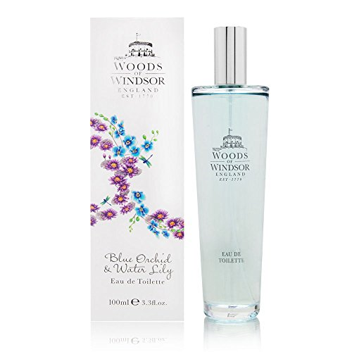 (Woods of Windsor Eau de Toilette Spray, Blue Orchid and Water Lily, 3.4 Ounce)