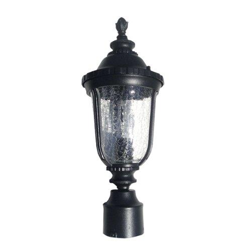 eTopLighting Gorgeous Black Finished Outdoor Garden Post Column Light Fixture Lamp Walkway, APLIQ308