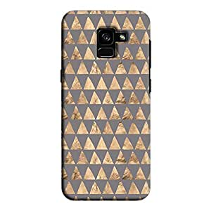 Cover It Up - Brown Grey Triangle Tile Galaxy A5 2018 Hard Case