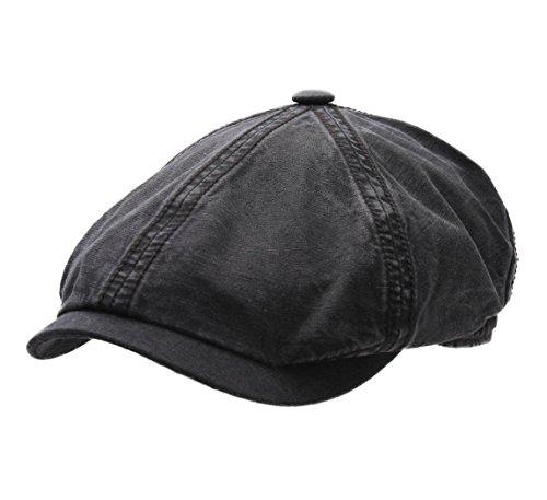 Stetson Men's Brooklin Ctn/lin Flat Cap Size M ()