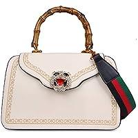 Beatfull Designer Tiger Top Handle Bags with Bamboo Handle for Women, Fashion Leather Snake Handbags Shoulder Bag