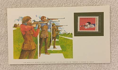 Rifle Shooting - The World of Sports - Postage Stamp & Commemorative Art Panel - Franklin Mint (1982) - Albania