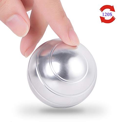 samisoler Desk Fidget Toys for Office Adults Stress Relief with Full Body Optical Illusion Metal Toy Ball