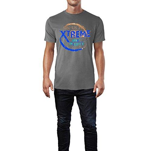Sinus Art ® Herren T Shirt Xtreme Sport Freestyle ( Charcoal ) Crewneck Tee with Frontartwork