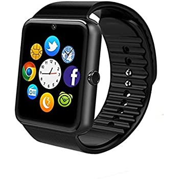 GT08 Bluetooth Smart Watch for Android Phones,Smart Watch with SIM Card Slot,Call,Massage,for iOS iPhone and Android Phones Samsung ZTE Sony LG Smartphones ...