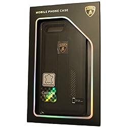 "Lamborghini Huracan-D6 Leather-Carbon Fiber Back Cover Case for iPhone 7 Plus 5.5"" (Black)"