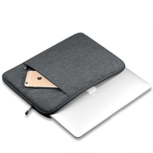 Funda Blanda Bolso Sleeve Para Ordenador Portátil / Macbook / Ultrabook Netbook Dark Gray