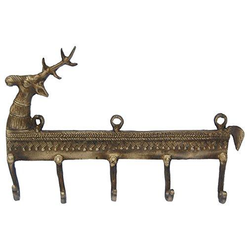 Aakrati Brass Key Hooks Brown