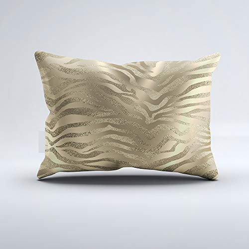 Zippered Pillow Covers Pillowcases One Side 20x26 Inch Safari African Gold Glam Zebra Animal Skin Sepia Pillow Cases Cushion Cover for Home Sofa Bedding (Safari Zebra Gold)