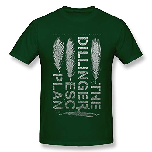 Suxingge The Dillinger Escape Plan Feathers T-Shirt 3XL Forest Green