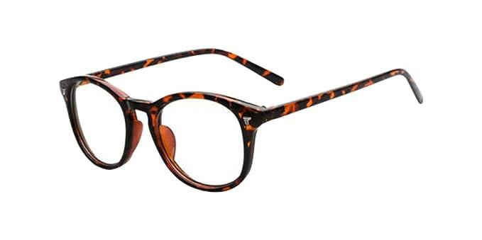 250d7252e3 Image Unavailable. Image not available for. Color  Leopard Vintage Men  Women Eyeglass Frame Glasses Retro Spectacles Clear Lens Eyewear Rx