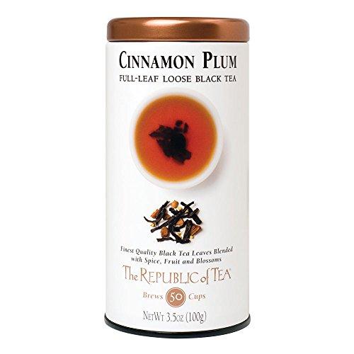 (The Republic of Tea Cinnamon Plum Black Full-Leaf Tea, 3.5 Ounces / 50-60 Cups)