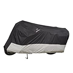 The Dowco 50005-02 WeatherAll Plus motorcycle cover is waterproof, breathable, and helps protect against rain, mildew, and fading caused by the sun's UV rays. Constructed of heavy-duty ClimaShield Plus fabric protection, a 300 Denier, and sol...