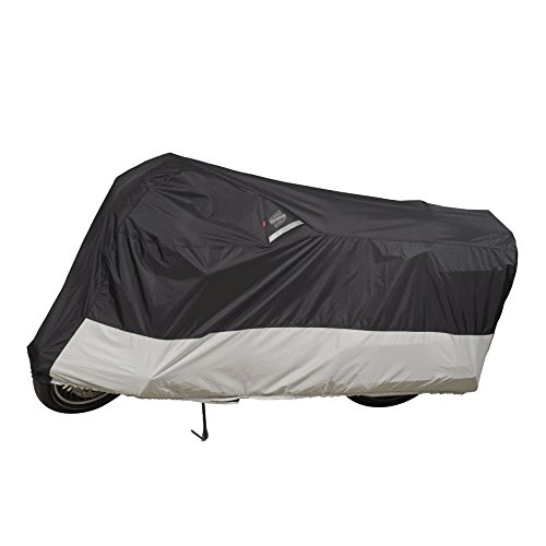 Dowco Guardian WeatherAll Plus Indoor/Outdoor Motorcycle Cover - Lifetime Limited Warranty - Reflective - Waterproof - UV Protection - Heat Safe - Moisture Guard Vent - Black - XL [ 50004-02 ]