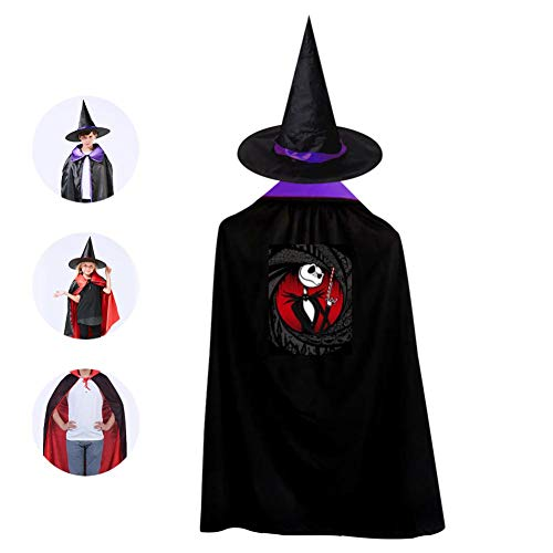 Childrens' Halloween Costume Skellingbond Cloak Style Kids Wizard Hat Cosplay For Boys&Girls