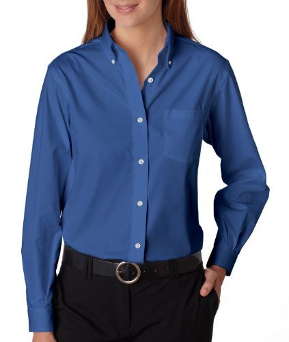 caea22f88 Van Heusen 13V0110 Womens Wrinkle-Resistant Oxford - Corporate Blue - 2XL