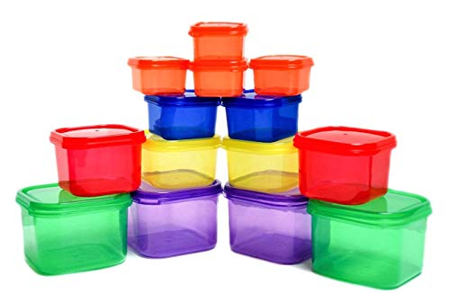 Portion Control Containers - 21 Day Portion Control Containers - Double Set (14-Piece) - Portion Control Sets for Diet Meal Preparation - Meal Prep System for Weight Loss (BPA Free)