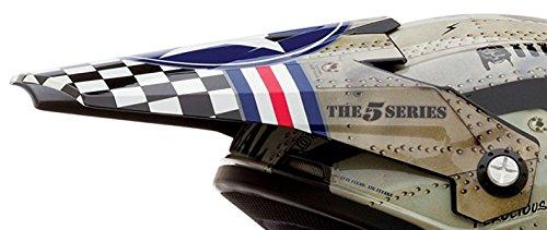 (O'Neal 5 Series Visor for Multicolor/White Wingman Helmet)