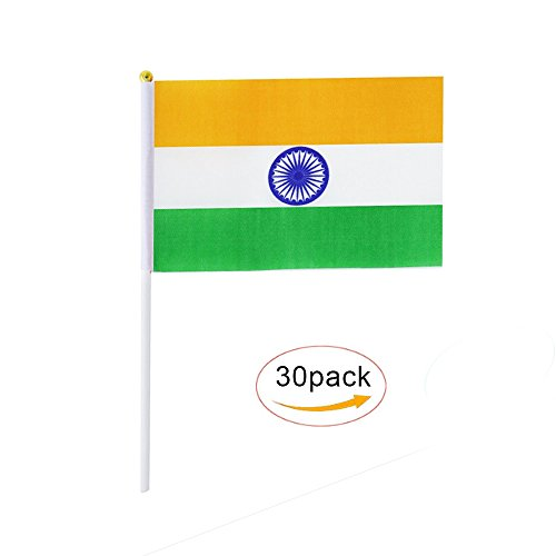 India Stick Flag,Indian Hand Held Mini Small Flags On Stick