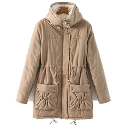 manches jeune élégant Khahi longues d'hiver veste plus occasionnel veste col mode chaud au lâche coréen survêtement à femmes Manteaux épaissir PwtqHnOgw