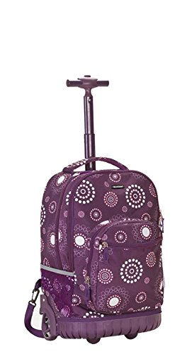 Rockland Luggage 19 Inch Rolling Backpack Printed, Purple Pearl, Medium
