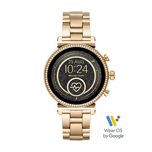 Michael Kors Access Women's Sofie Heart Rate' Touch-Screen Smartwatch with Stainless-Steel Strap, Gold, 18 (Model: MKT5062) (Best Cheap Smartwatch 2019)