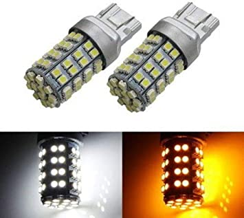 Switchback 7443 7444NA Dual-Color 28-SMD LED Bulbs for Front Turn Signal lights