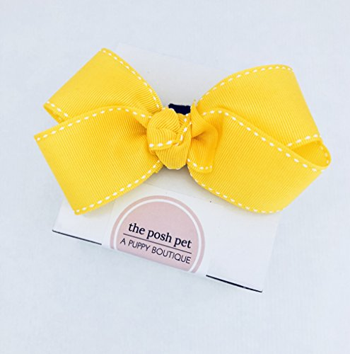 Posh Pet Boutique - Yellow Bow