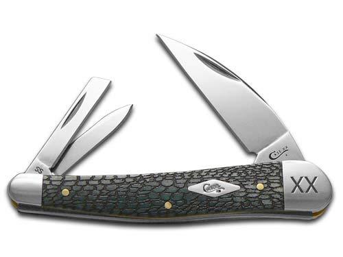 CASE XX Alligator Skin Gray Bone Seahorse Whittler 1/500 Stainless Pocket Knife Knives (Alligator Bone Knife)